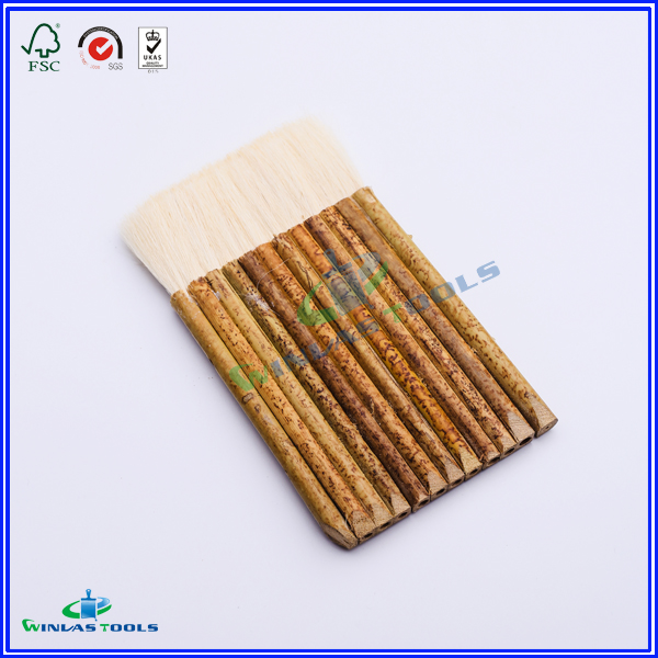 wool paint brush,bamboo handle paint brush,