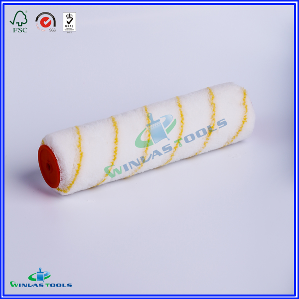 Yellow stripe Paint roller cover