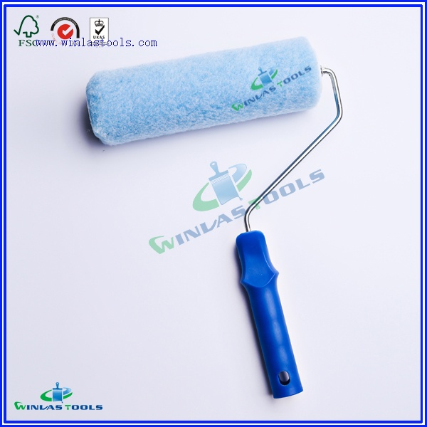 Blue polyester roller with handle
